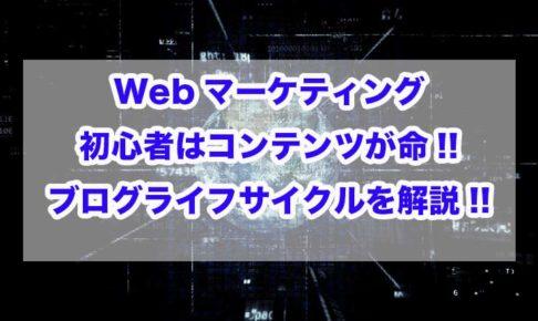 Webマーケティング 初心者 ライフサイクル