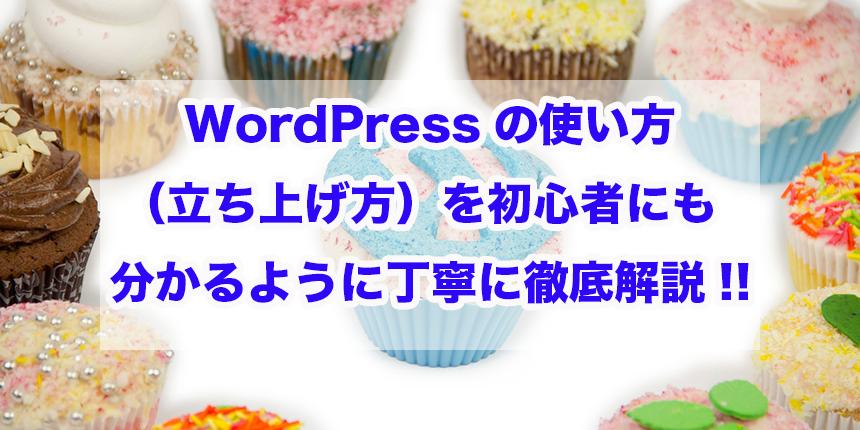 WordPressの使い方(立ち上げ方)を初心者にも分かるように丁寧に徹底解説!!